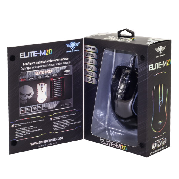 Souris Spirit Of Gamer Elite-M20 Black
