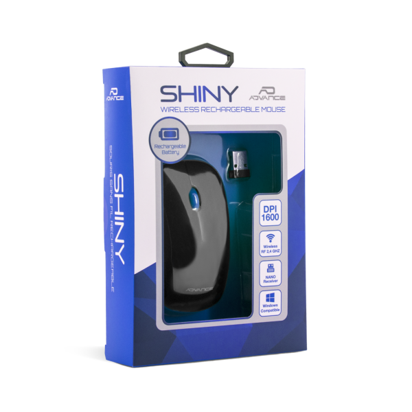 Souris wireless rechargeable bleue Shiny !