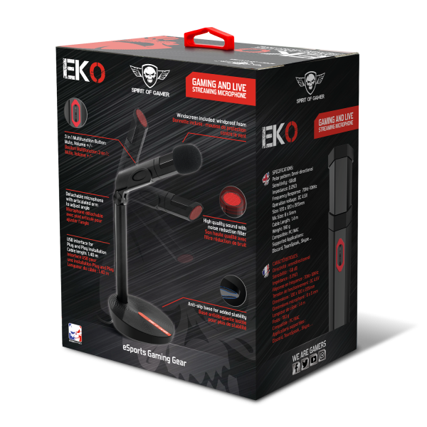 EKO Gaming and Live Streaming Microphone