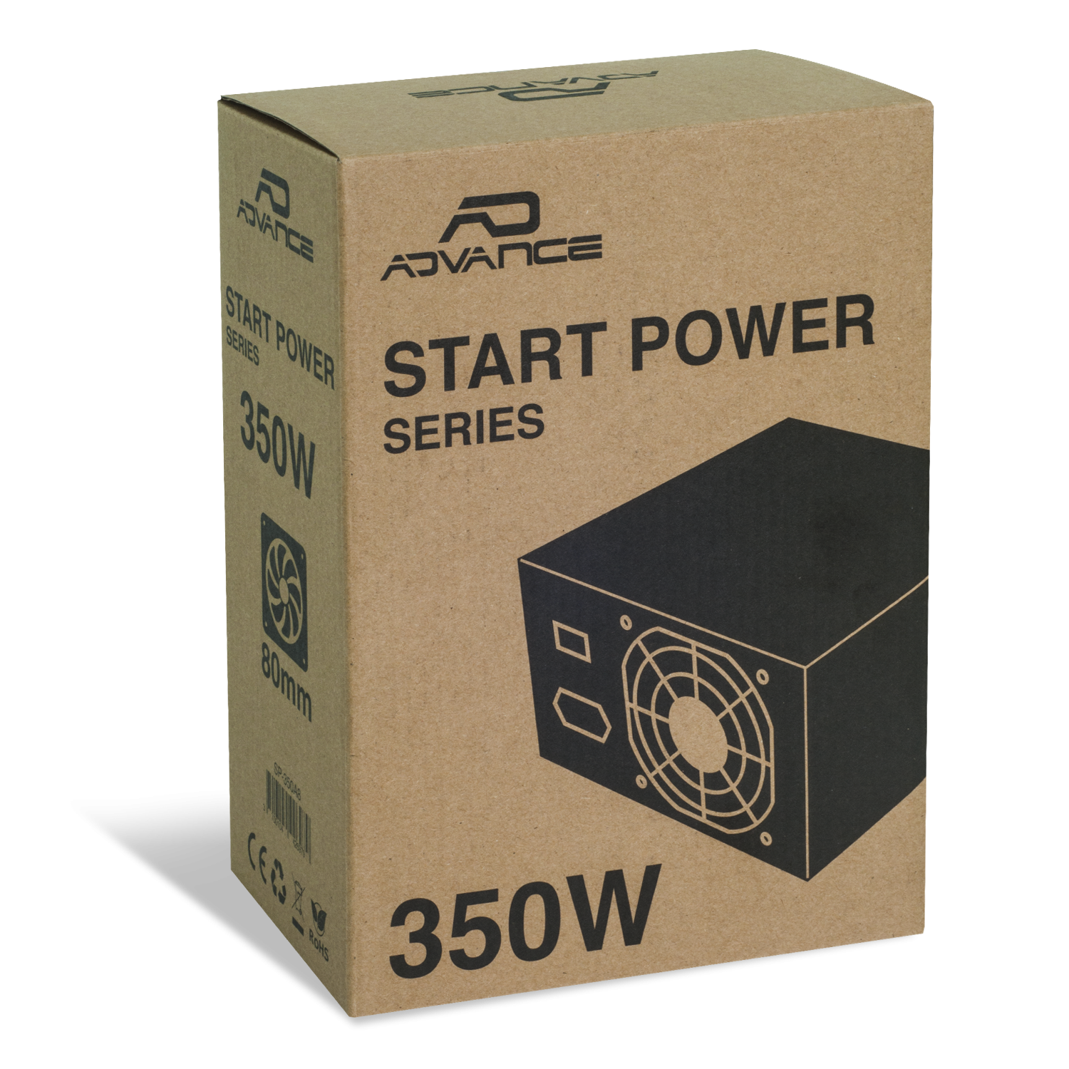 Alimentation Start Power Series 350W Nominale 80 mm