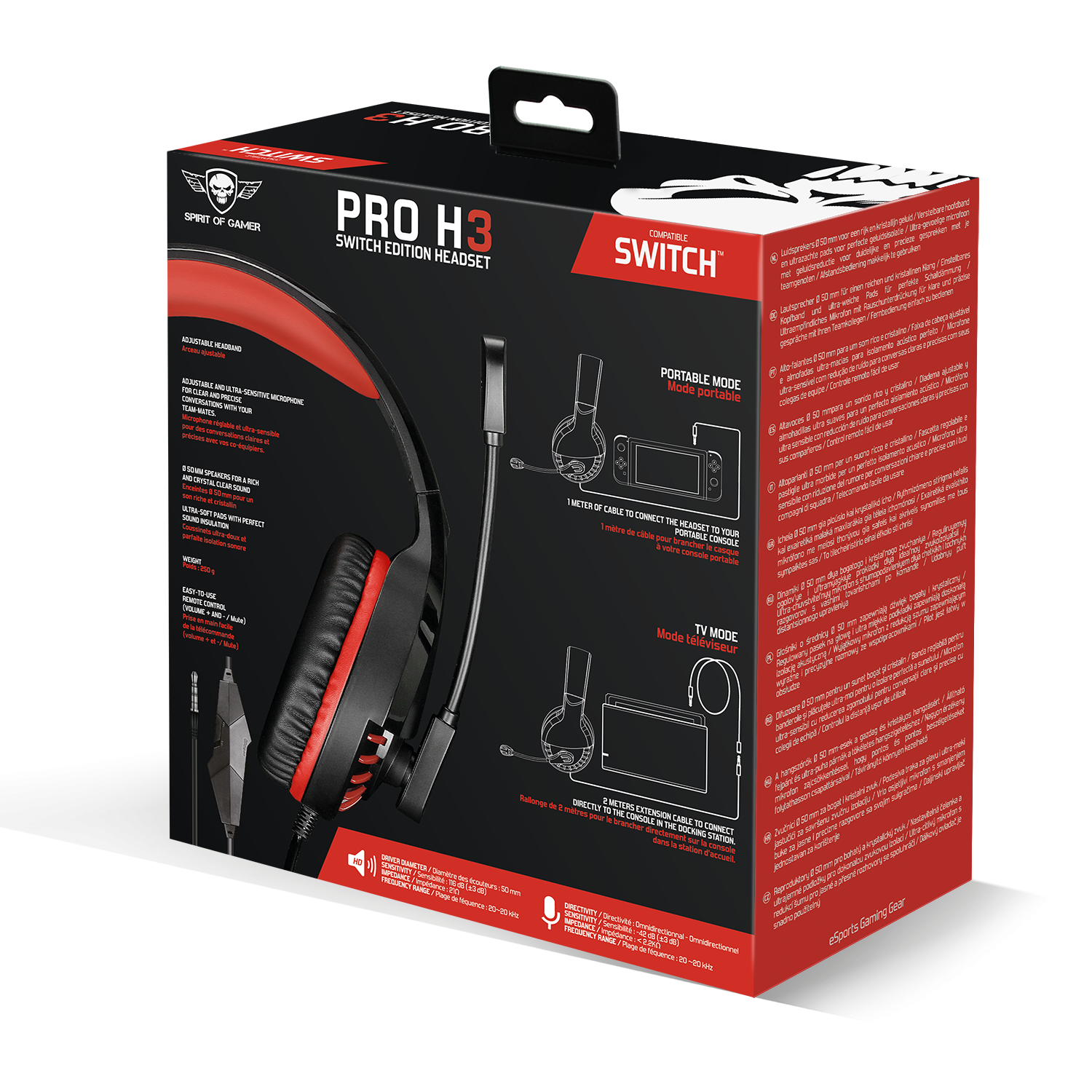 Casque PRO-SH3 • SWITCH EDITION